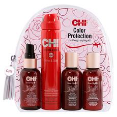 Дорожный набор для окрашенных волос CHI Rose Hip Color Protection Kit