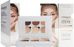 Кремовая палетка для скульптурирования лица Contour & Highlight Cream Palette BELLAPIERRE