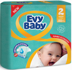 Подгузники детские Evy Baby Mini 3-6кг, 80 шт