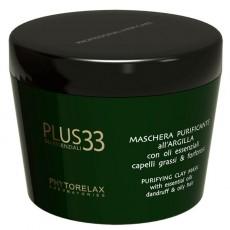 Маска для жирных волос очищающая Plus 33 PURIFYING CLAY MASK Phytorelax