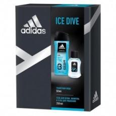 Подарочный набор мужской Adidas Ice Dive (туалетная вода 50 мл + гель для душа 250 мл)