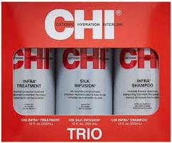 Набор Инфра CHI INFRA TRIO набор: Shampoo 355ml + Conditioner 355ml + Silk Infusion 355ml