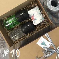 Подарочный набор для мужчин №10 (• Гель для бритья NISHMAN 03 Shaving gel 400 мл • Одеколон NISHMAN 03 CARIBBEAN 400 мл) NISHMAN
