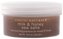 """Скраб для рук, ног и тела """"Мед и молоко"""" на основе морской соли CUCCIO NATURALE"""