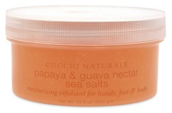 """Скраб для рук, ног и тела """"Папайя и гуава"""" на основе морской соли CUCCIO NATURALE"""