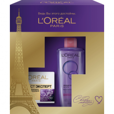 Подарочный набор (Крем для лица Возраст Эксперт 55+, Мицеллярная вода для сухой и чувствительной кожи) L'Oreal Paris