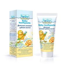 Детская  гелевая зубная паста со вкусом апельсина 2-10 лет Babyline