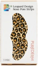 Очищающие поры полоски для носа COLOR!SKIN Leopard Design Nose Pore Strips PUREDERM