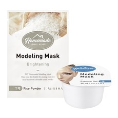 Альгинатная маска для лица MISSHA Homemade Modeling Mask (Rice)ade Pack Foam Cleanser (Centella Calamine)