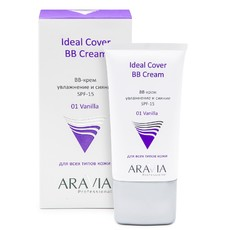 BB-крем увлажняющий SPF-15 Ideal Cover BB-Cream Vanilla 01 ARAVIA Professional