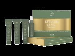 Набор (шампунь+бальзам+сыворотка+блеск) OLLIN Keratine Royal Treatment