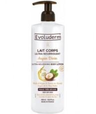 Ультрапитательный лосьон для тела с аргановым маслом и маслом Ши EVOLUDERM ULTRA-NOURISHING BODY LOTION Argan Oil & Shea