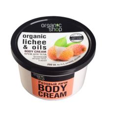 Крем для тела Розовый личи «Organic Shop»
