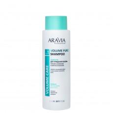 Шампунь для придания объёма тонким и склонным к жирности волосам, 400мл ARAVIA Professional