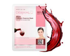 Маска для лица экстракт Вина и коллаген/ Wine Collagen Essence Mask Dermal