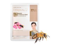 Маска для лица с Пчелиным ядом и коллагеном/Bee Venom Collagen Essence Mask Dermal