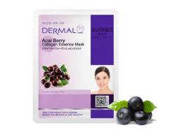 Маска для лица ягоды Асаи и коллаген /Acai Berry Collagen Essence Mask Dermal