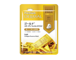 Маска-эссенция коллагеновая с Коллоидным золотом/Gold Collagen Essence Mask DERMAL PREMIUM