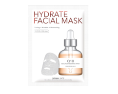 Маска для лица активное увлажнение Коэнзим Q10 / Q10 Hydrate Facial Mask DERMAL SHOP