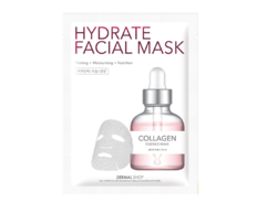 Маска для лица активное увлажнение Коллаген/Collagen Hydrate Facial Mask DERMAL SHOP