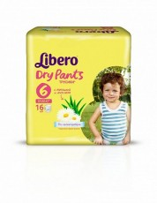 Детские подгузники-трусики Libero Dry Pants XL 6 (13-20 кг)