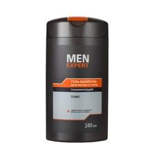 Гель-шампунь для волос и тела тонизирующий Men Expert