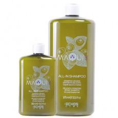 Натуральный шампунь для увлажнения сухих и истощенных волос MAQUI 3 DELICATE HYDRATING VEGAN SHAMPOO ECHOS LINE