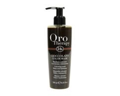 Маска увлажняющая для придания блеска и интенсивности оттенка окрашенным волосам Fanola Oro Therapy 24k
