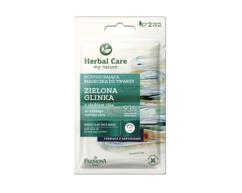 Маска для лица очищающая Зеленая Глинка Herbal Care Farmona, 2уп