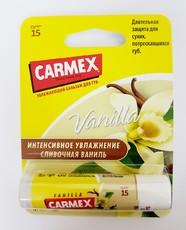 Увлажняющий бальзам для губ Carmex Vanilla SPF15 с запахом ванили, стик в блистере