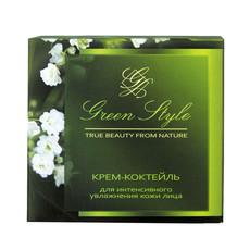 Крем-коктейль для увлажнения кожи лица ночной 25+ «GREEN STYLE» Liv Delano