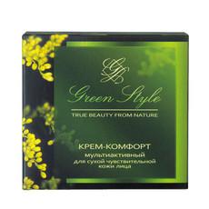 Крем-комфорт мультиактивный дневной для сухой чувствительной кожи лица «GREEN STYLE» Liv Delano