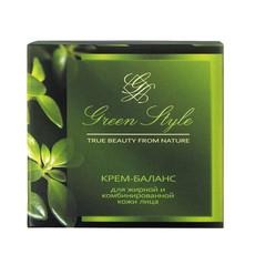 Крем-баланс для жирной и комбинированной кожи лица ночной «GREEN STYLE» Liv Delano