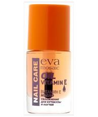 Масло увлажняющее с витамином Е, увлажнение кутикулы и ногтей EVA MOSAIC