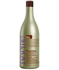 Питательный бальзам для обесцвеченных, сухих и ломких волос N2 (несмываемый) NUTRITIVO SILKAT BES Beauty&Science