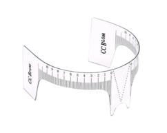 Наклейка-линейка для построения формы бровей с вырезом, 10 шт CC Brow