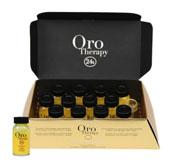 Восстанавливающий лосьон с кератином, аргановым маслом  и микрочастицами золота Oro Therapy 24k Oro Puro Fanola