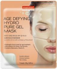 Гидрогелевая антивозрастная маска для лица AGE DEFYING HYDRO PURE GEL MASK PUREDERM