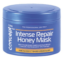 Восстанавливающая маска с медом для сухих и поврежденных волос Concept LIVE HAIR
