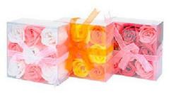 Набор из 9 мыльных роз в квадратной блистерной упаковке Liss Kroully