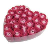 Набор из 24 мыльных роз в блистерной упаковке в форме сердца Liss Kroully