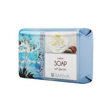 Мыло туалетное твердое с кремом с добавлением глицерина Barwa Naturalna