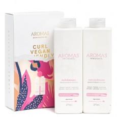 Набор Aromas «Для вьющихся волос»: шампунь и кондиционер (Шампунь с аргановым маслом для вьющихся волос Aromas Curl Shampoo, 275 ml, Кондиционер с аргановым маслом для вьющихся волос Aromas Curl Conditioner, 275 ml)