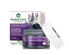 Очищающая Маска-детокс для лица Черная Киноа и Глина Гассул Herbal Care Farmona