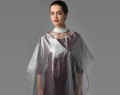 Пеньюар 160х120см  для парикмахерских работ полиэтилен прозрачный ЧИСТОВЬЕ (Россия)