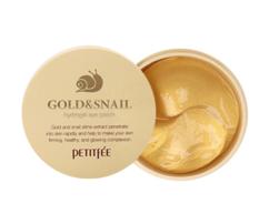 Гидрогелевые патчи для глаз ЗОЛОТО/УЛИТКА Gold/Snail Hydrogel Eye Patch PETITFEE