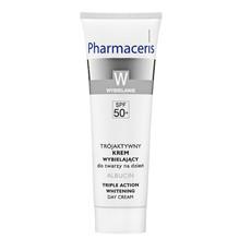 Осветляющий дневной крем для лица тройного действия SPF50+ Albucin W Pharmaceris