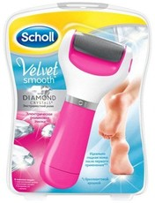 Электрическая пилка с экстражестким роликом (с бриллиантовой крошкой) розовая Scholl