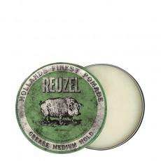 Зеленая помада для укладки средней фиксации Reuzel Grease Medium Hold