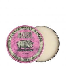 Розовая помада для укладки сильной фиксации Reuzel Grease Heavy Hold